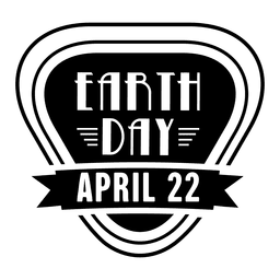 Earth day label