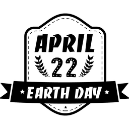 Earth day ribbon emblem
