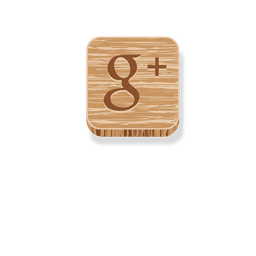 Google plus wooden icon