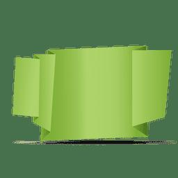 Green folded origami banner