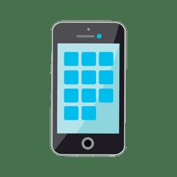 Iphone icono plana