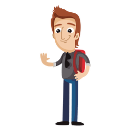 Male student cartoon