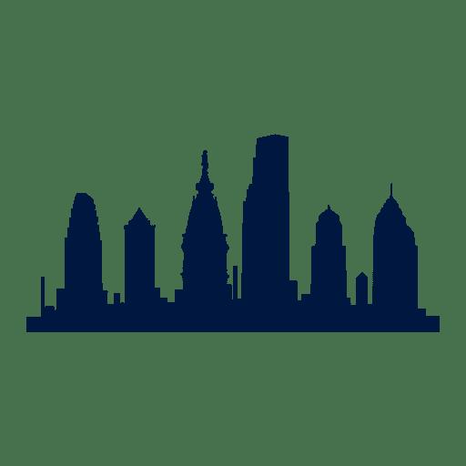 Philadelphia city skyline silhouette Transparent PNG