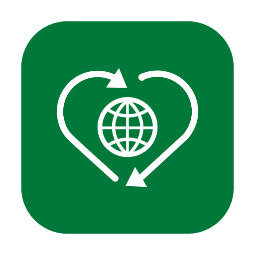 Recycle globe.svg Transparent PNG