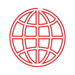 Red globe line icon.svg