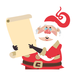 Santa claus holding scroll