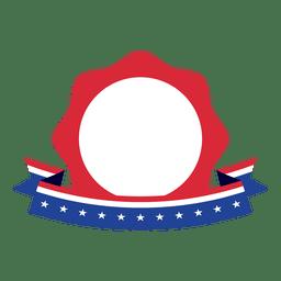 Star badge usa flag