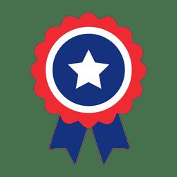 Star ribbon usa badge