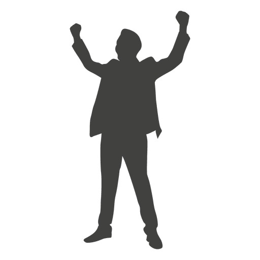 successful businessman silhouette transparent png svg vector