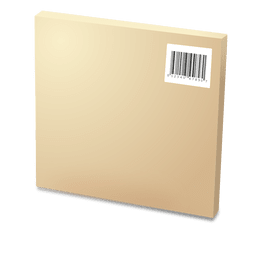 Cardboard box with codebars
