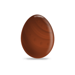 Chocolate lines easter egg
