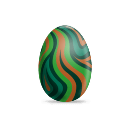 Colorful waves easter egg