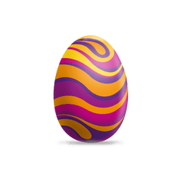 Colorful waves easter egg 1