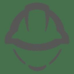 el icono del casco de la construcción