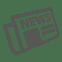 Flat folded newspaper icon