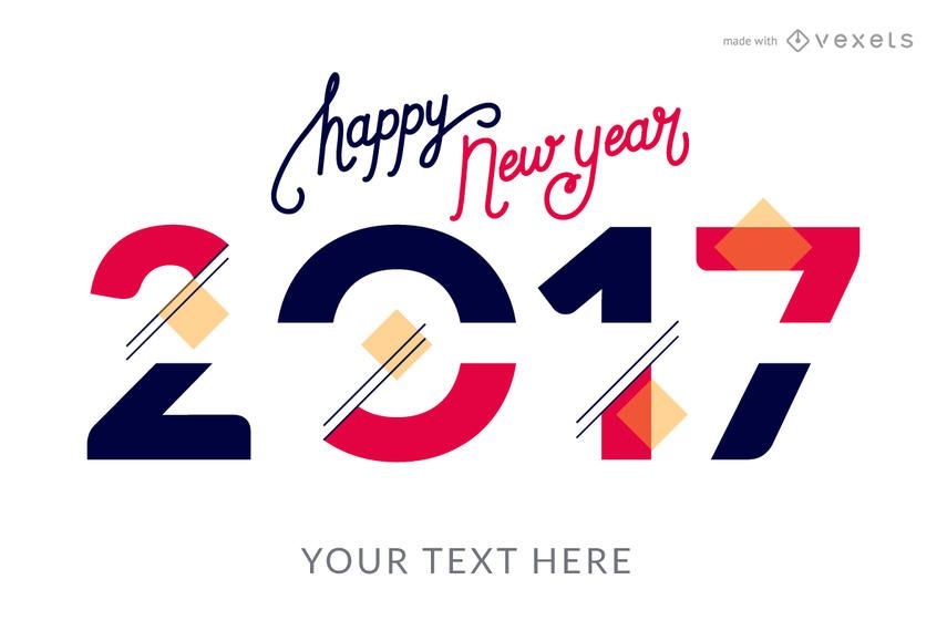 2017 new year styles poster creator