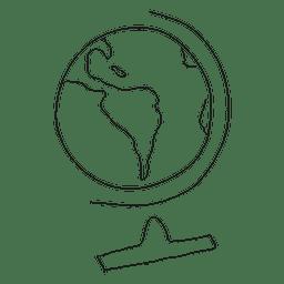 Hand drawn desk globe