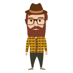 Hipster male character 1
