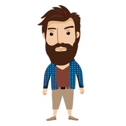 Hipster male character 2