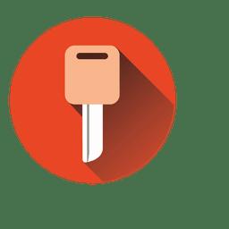 Key circle icon
