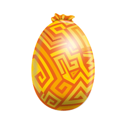 Labyrinth painted easter egg