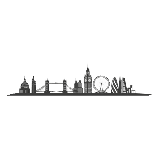 London skyline silhouette Transparent PNG