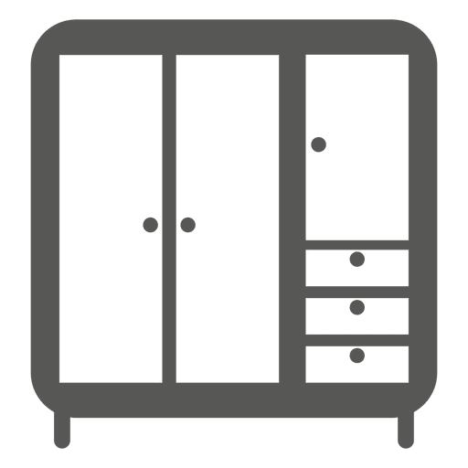 Multi storage almirah icon Transparent PNG