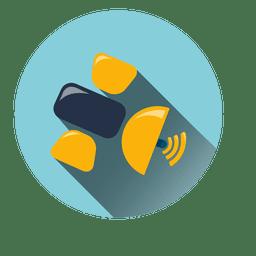 Satellite network circle icon