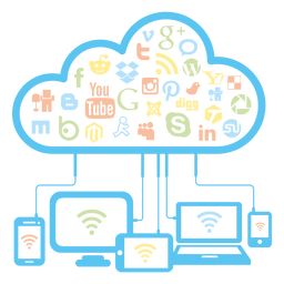 Social network cloud concept