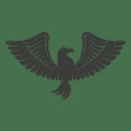 Wide winged phoenix bird