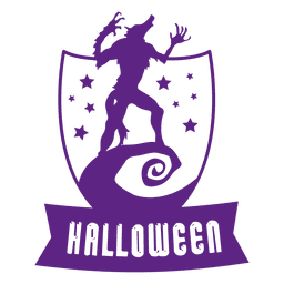 Wolf sheld halloween badge