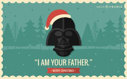 La cultura pop fabricante de la tarjeta de Navidad