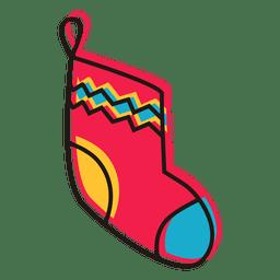 Christmas stocking cartoon icon 14