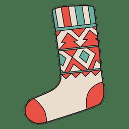 Christmas stocking cartoon icon 24