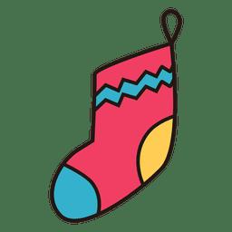 Christmas stocking cartoon icon 26