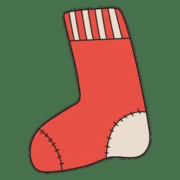 Christmas stocking cartoon icon 27