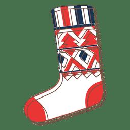 Christmas stocking cartoon icon 64