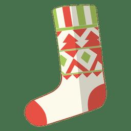 Christmas stocking flat icon 12
