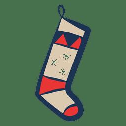 Christmas stocking illustration icon