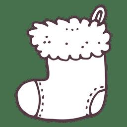 Christmas stocking hand drawn icon 10