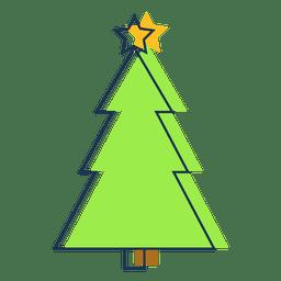 Christmas tree cartoon icon 41