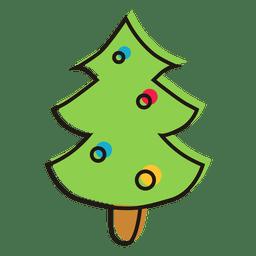 Christmas tree cartoon icon 15