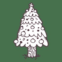 Christmas tree hand drawn icon 17