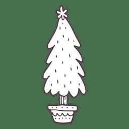 Christmas tree hand drawn icon 29