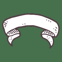 Ribbon hand drawn icon 19