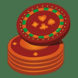 icono de monedas de casino