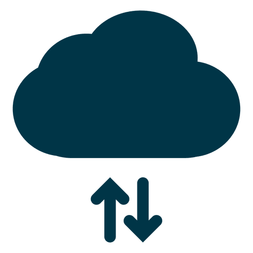 Cloud storage and download icon Transparent PNG