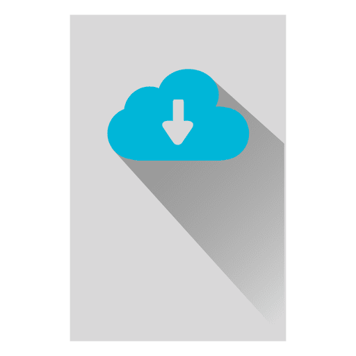 Cloud storage square icon Transparent PNG