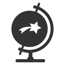 Desk globe with star icon