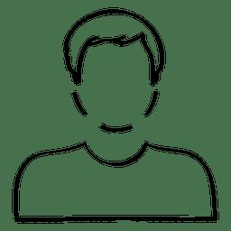 Hand drawn male avatar